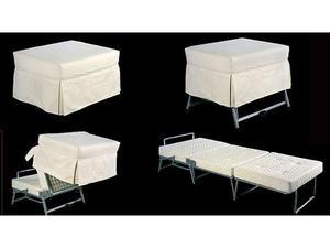 Pouf letto singolo con rete elettrosaldata posot class - Pouf letto economico ...