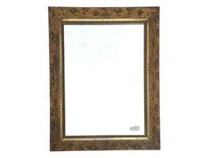 Specchio antico cornice dorata posot class for Specchio rotondo antico