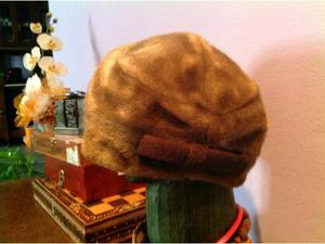 Cappello donna in finta pelliccia tg. 56 anni Sessanta