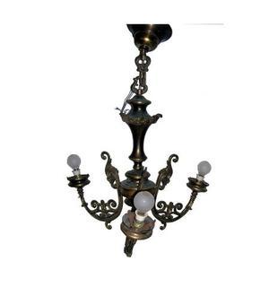 LAMPADARIO rustico con tre bracci