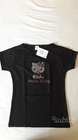 Maglietta Hello Kitty con strass misura M