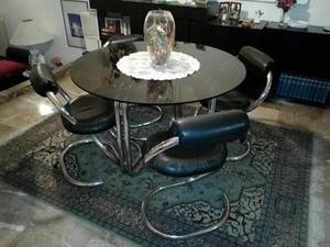 tavolo di cristallo + 4 sedie Euro 300