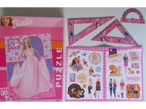 BARBIE Puzzle 100 pezzi + Stickers + squadre + goniometro