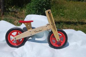 Bici legno senza pedali