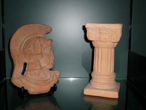 COPPIA di Sculture in terracotta
