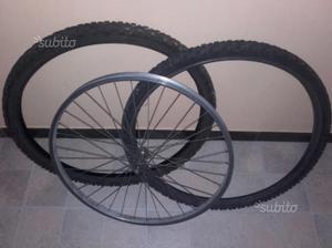 Cerchio bicicletta Mtb più Copertoni