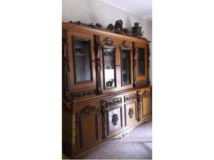 Mobile antico da soggiorno in legno massello