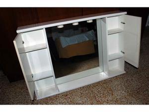 Specchio da bagno con 2 ante presa e interruttore posot - Specchio bagno con mobiletto ...