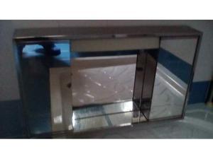 Mobiletto bagno specchiera alluminio