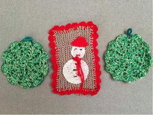 Presine fatte a mano in uncinetto disegni vari natalizia