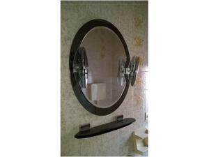 Specchio e mensolina bagno in cristallo
