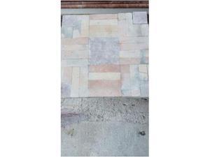 Tavolo di marmo Rosso Verona a quadretti