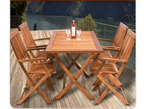 Tavolo giardino con sedie legno di acacia