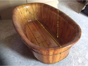 Vasca Da Bagno Tinozza : Vasca per esterno tinozza in legno abete ovale rotonda miglior prezzo