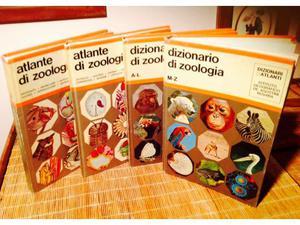 4 volumi dizionario e atlante di zoologia de agostini