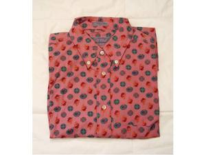 Camicia uomo manica corta rosa antico in fantasia tg.s -