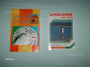 Libro giochi di prestigio e libro di pesca