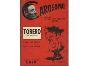 Spartito originale TORERO di Renato Carosone