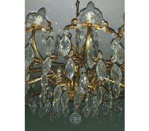splendido lampadario a gocce di cristallo 12 fiamme