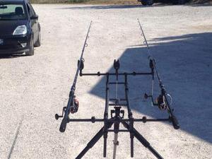 Canne con mulinelli carp fishing