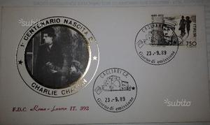 - FDC Roma Luxor - Charles Chaplin il monello