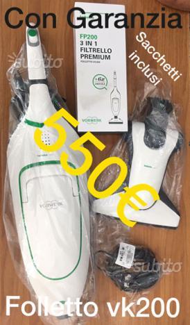 Folletto riparazioni e vendita sacchetti e ricambi posot for Folletto vk200 prezzo