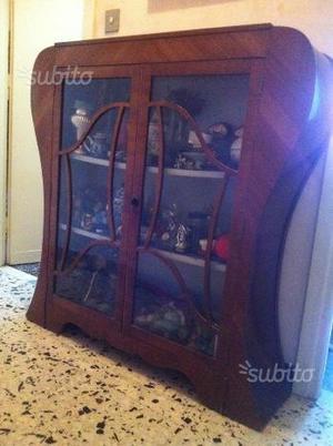 Vetrina mobile antica stile liberty inglese 800