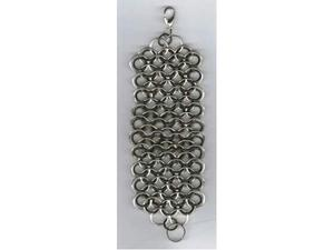 Bracciale alluminio nero e argentato maglia di drago