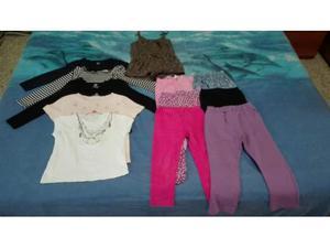 Lotto 5 magliette 6 pantaloni e 1 vestito pantalone bambina