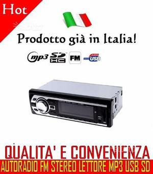 Autoradio Fm Mp3 con telecomando radio