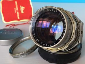 Leica M Summicron 50/2 rigido,lenti perfette