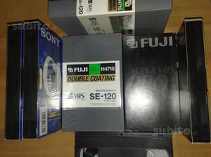 Videocassette VHS SONY S-VHS Fuji SUPER VHS PRO