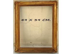 2 Cornici in legno dorato (25 x 32 cm.)(49x39 cm)