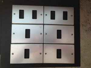 6 placche originali magic bticino alluminio con viti