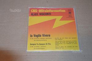 Alice visconti dischi vinili 45 giri rari