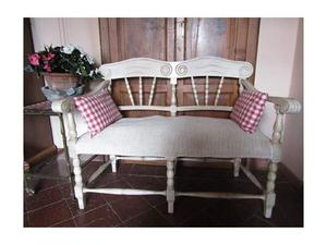 Divanetto a due posti shabby chic