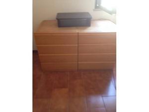 Mobile cassettiera 4 cassetti in legno rovere
