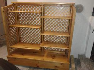 Mobile scaffale in legno massello - libreria