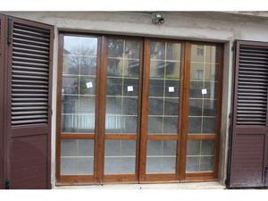 Porta finestra colore pino chiaro posot class for Finestra scorrevole 4 metri