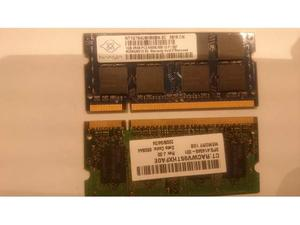 SODIMM RAM 2GB (1GB X 2) PCS- notebook