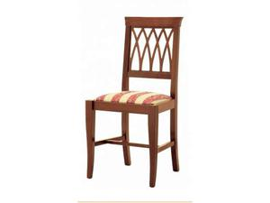 Sedia freccia in legno con seduta imbottita
