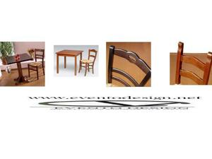 Set tavolo e sedia da ristorazione pub