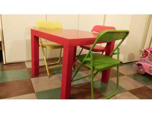 Tavolo a ribalta con 3 sedie pieghevoli posot class - Tavolino con sedie per bambini ...