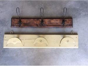Attaccapanni da muro in ferro e legno bologna posot class for Attaccapanni vintage