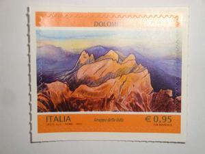Italia 1 francobollo dolomiti gruppo delle ode  nuovo