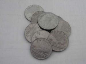 Lotto di 10 pezzi di 50 centesimi