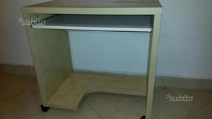 Ikea malm scrivania con piano estraibile bianco posot class - Scrivania porta computer ikea ...