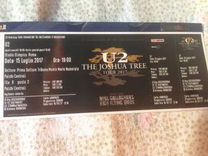 1 biglietto concerto U2 a ROMA - PALCO CENTRALE, Ottima