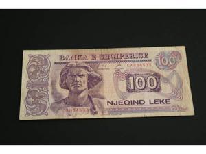 Banconota Albania 100 leke