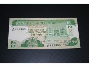 Banconota Mauritius 10 rupees